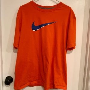 Nike orange regular fit short-sleeved t-shirt